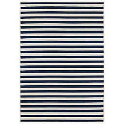 Momeni® 8'6 x 13' Baja Stripe Area Rug in Navy