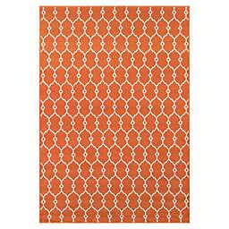 Momeni® Baja Trellis 6'7 x 9'6 Indoor/Outdoor Area Rug in Orange