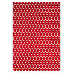 Momeni® Baja Trellis 8'6 x 13' Indoor/Outdoor Area Rug in Red