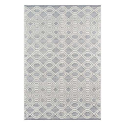 Momeni® 2'3 x 8' Runner Hermosa Geometric Runner Rug in Grey