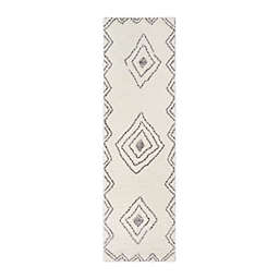 Momeni® Margaux Geometric 2'3 x 8' Runner in Ivory