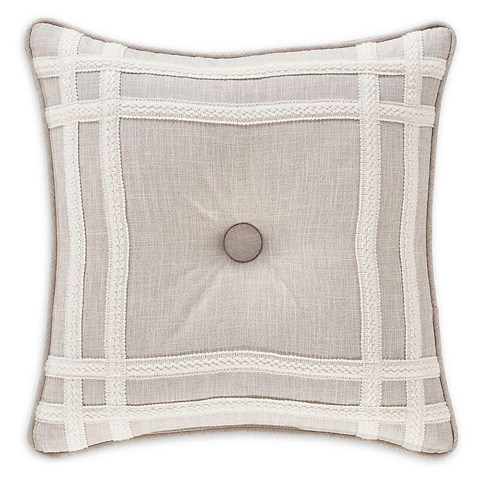 Alternate image 1 for J. Queen New York™ Lauralynn Frame Throw Pillow in Beige