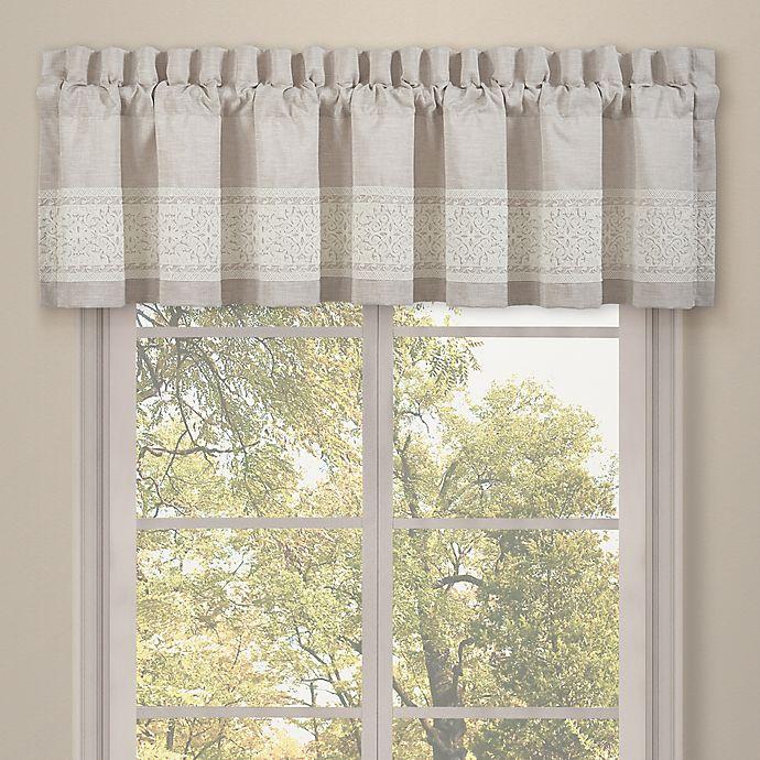 Alternate image 1 for J. Queen New York™ Lauralynn Window Valance in Beige