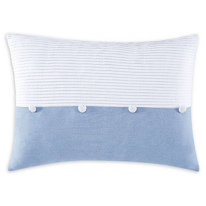 Alternate image 1 for Charisma® Settee Oblong Breakfast Throw Pillow in White/Blue