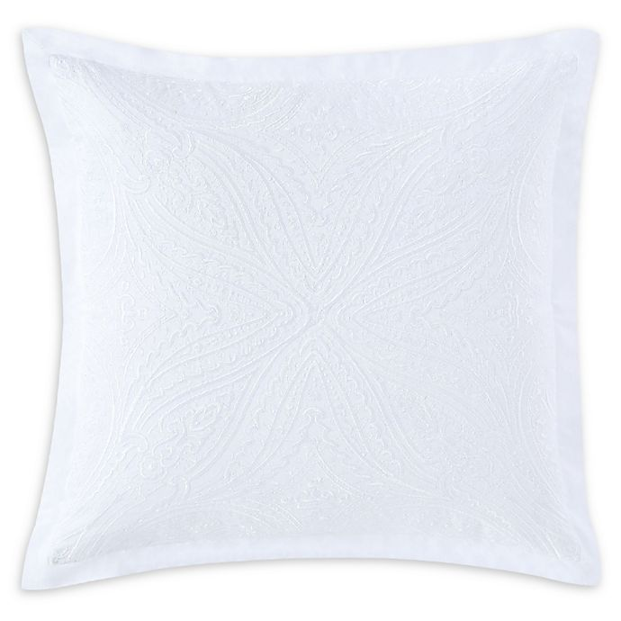 Alternate image 1 for Charisma® Settee Square Throw Pillow in White