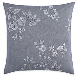 Charisma® Riva Floral Embroidered Square Throw Pillow in Grey