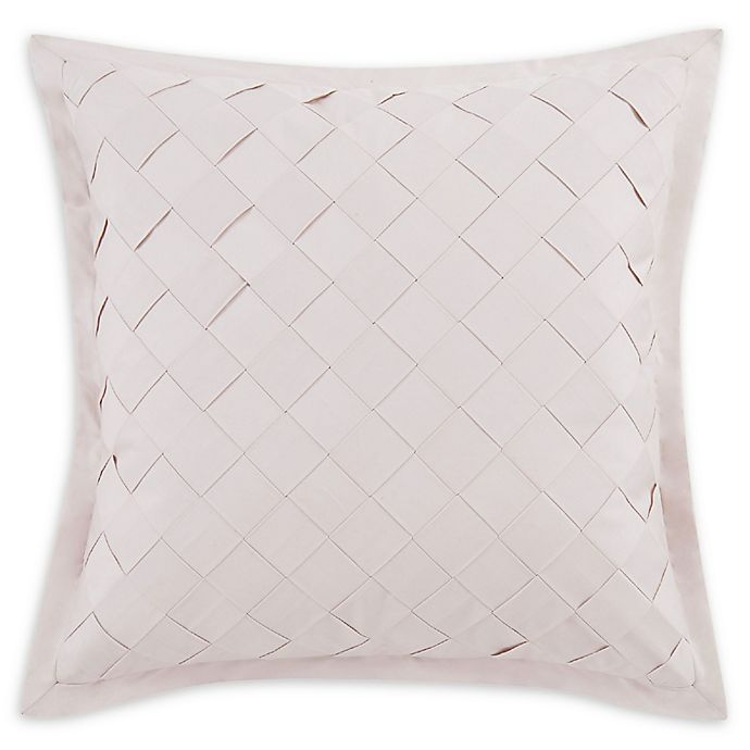 Alternate image 1 for Charisma® Riva Lattice Square Throw Pillow in Blush