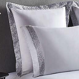 Frette At Home Puntini European Pillow Sham in White/Grey