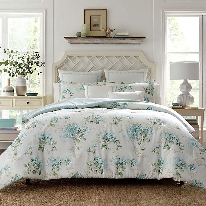 Alternate image 1 for Laura Ashley® Honeysuckle Comforter Bonus Set in Duck Egg
