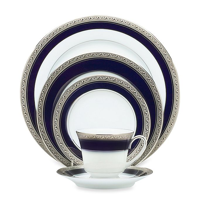 Alternate image 1 for Noritake® Crestwood Cobalt Platinum Dinnerware Collection