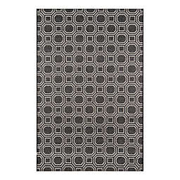 Erin Gates by Momeni® Downeast Camden 7'10 x 10'10 All-Weather Area Rug in Charcoal