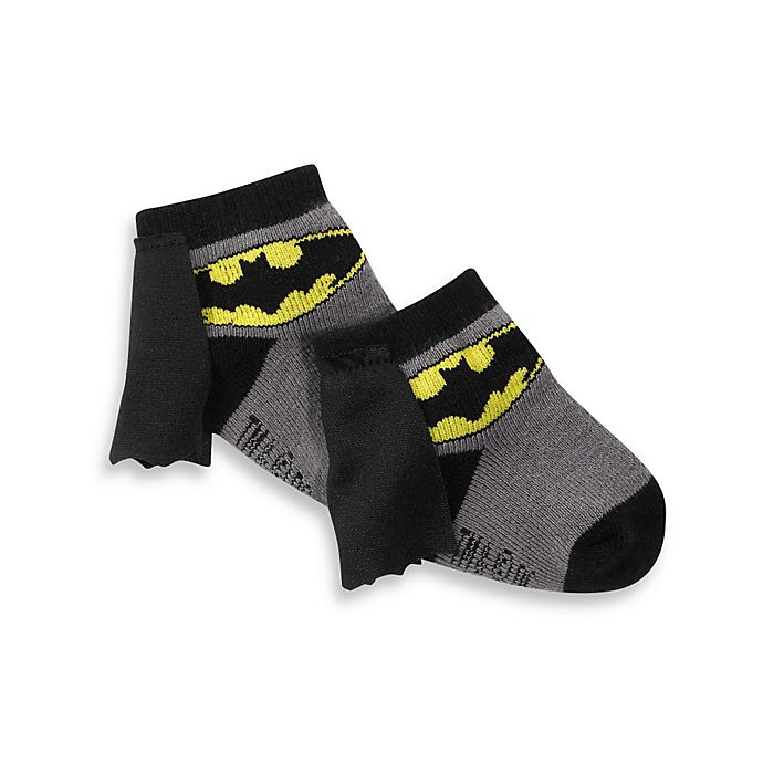 Alternate image 1 for Batman Size 0-12 Months Socks With Cape