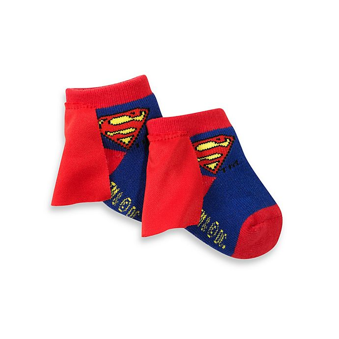 Alternate image 1 for Superman Size 0-12 Months Socks With Cape