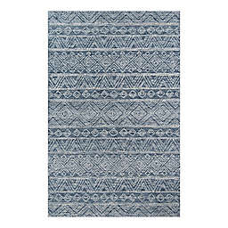 Momeni® 5' x 8' Mallorca Geometric Area Rug in Denim