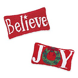 C & F Home™ 2-Piece Believe & Joy Oblong Throw Pillows in Red