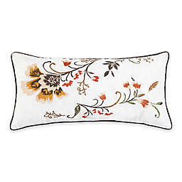 C & F Home™ Autumn Bloom Embroidered Oblong Throw Pillow in White