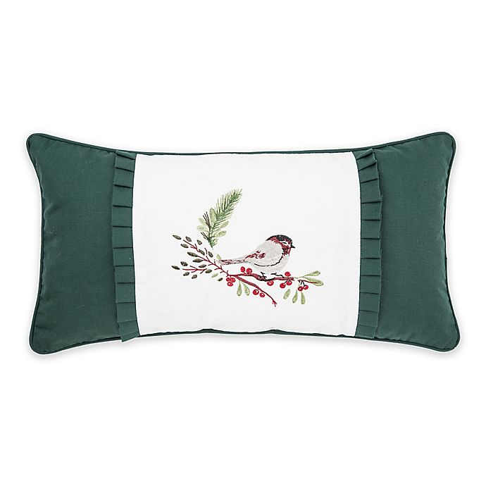 Alternate image 1 for C & F Home™ Chickadee Embroidered Oblong Throw Pillow in Green