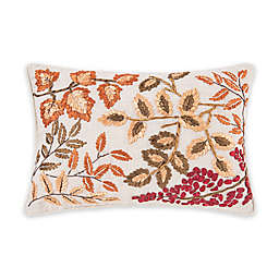 C & F Home™ Falling Leaves Textured Oblong Throw Pillow in Orange