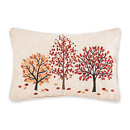 C & F Home™ Autumn Trees Textured Oblong Throw Pillow in Orange