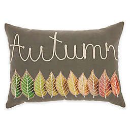 Mina Victory Autumn Leaves Oblong Throw Pillow
