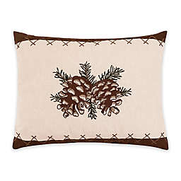 C & F Home™ Lodge Pinecone Embroidered Oblong Throw Pillow