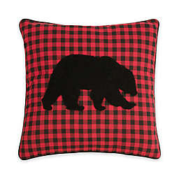 C & F Home™ Woodford Bear Embroidered Square Throw Pillow