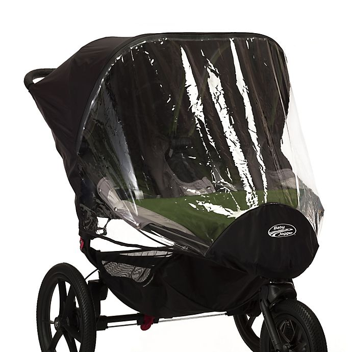 Alternate image 1 for Baby Jogger® Summit X3 Double Stroller Rain and Wind Canopy