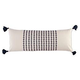 Novogratz Layla Bolster Throw Pillow in Navy Blue