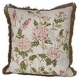 Bee & Willow™ Home Embroidered Floral Square Throw Pillow in Pink