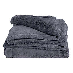 Cariloha Reversible Quilted Throw Blanket in Blue Lagoon