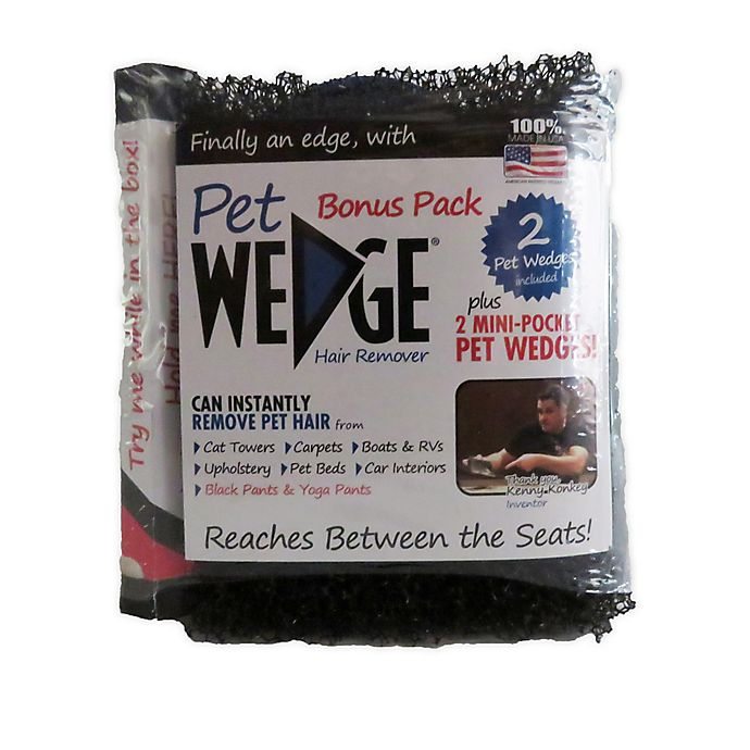 Alternate image 1 for Pet Wedge® 4-Pack Hair Remover Wedges in Black