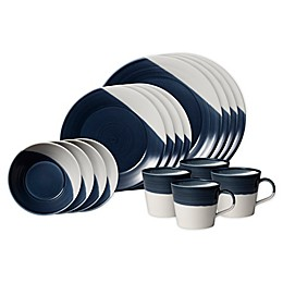 Royal Doulton® Bowls of Plenty 16-Piece Dinnerware Set in Dark Blue