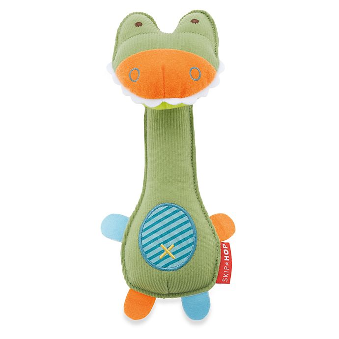 Alternate image 1 for SKIP*HOP® Giraffe Safari Crocodile Squeeze Me Rattle