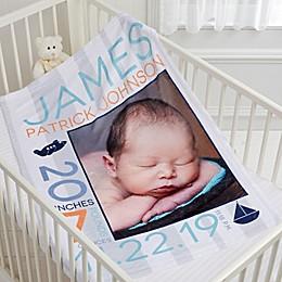 Sweet Baby Personalized 30-Inch x 40-Inch Fleece Photo Blanket