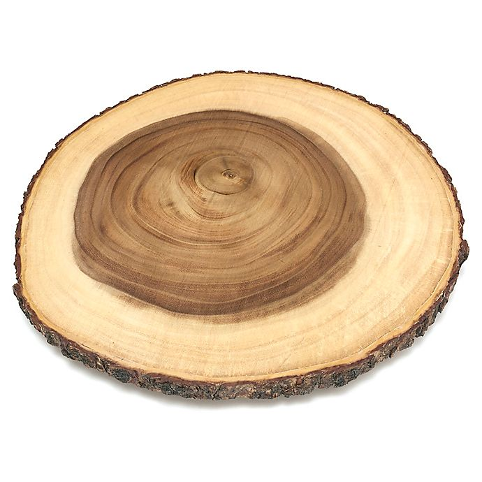 Alternate image 1 for Lipper International Acacia Bark 16-Inch Lazy Susan