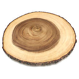 Lipper International Acacia Bark 16-Inch Lazy Susan