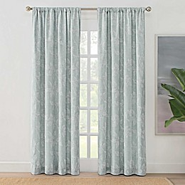 Brookstone® Zoey Leaf Rod Pocket 100% Blackout Window Curtain Panel