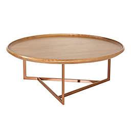 Valentina Round Coffee Table in Cinnamon