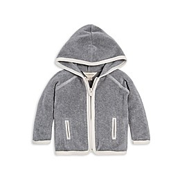 Burt's Bees Baby® Hooded Velour Organic Cotton Jacket in Grey