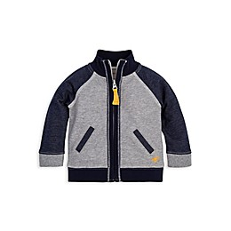 Burt's Bees Baby® Organic Cotton Terry Jacket in Navy/Grey