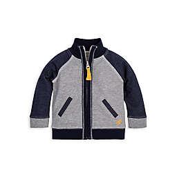 Burt's Bees Baby® Organic Cotton Terry Jacket in Navy/Grey