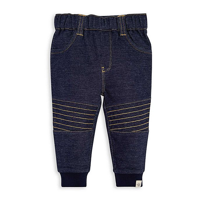 Alternate image 1 for Burt's Bees Baby® Organic Cotton Terry Pant in Blue