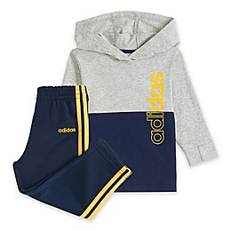 Adidas® 2-Piece Hoodie and Pant Set in Navy/Grey