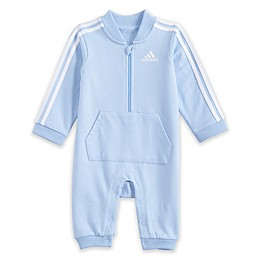 adidas® Striped Coverall in Light Blue