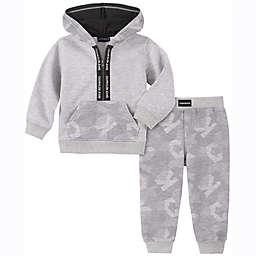 Calvin Klein® 2-Piece Digital Camo Fleece Hoodie and Pant Set in Grey