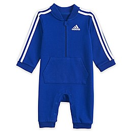 adidas® Striped Coverall in Royal Blue
