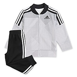 Adidas® 2-Piece Tricot Jacket and Pant Set in White