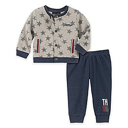 Tommy Hilfiger® 2-Piece Star Cardigan and Pant Set in Grey