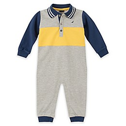 Nautica® Collared Coverall in Grey/Navy