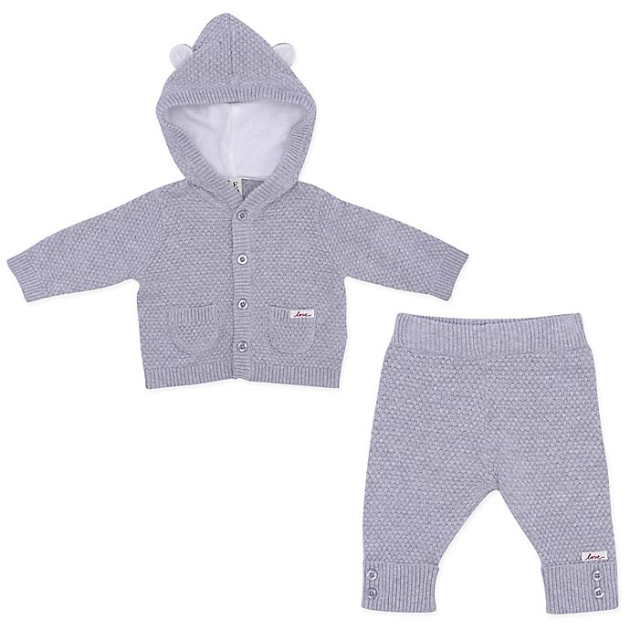 Alternate image 1 for ED Ellen DeGeneres 2-Piece Bear Sweater and Pant Set in Grey